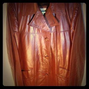 cfde3f382 Mens vintage London Fog leather coat.